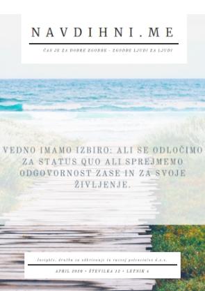 eMagazin revija NAVDIHNI.ME, št.12