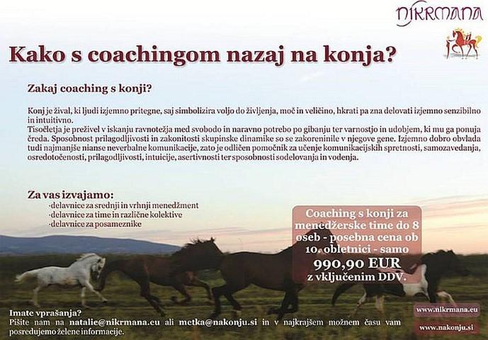 Kako s coachingom nazaj na konja